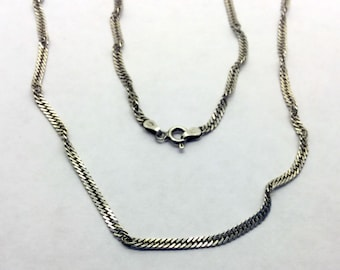 3mm sterling silver rope chain necklace #102