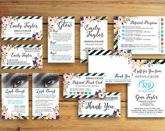 Rodan and Fields Business Card -  Rodan + Fields Marketing Kit  - Personalized Bundle Pack - Digital , Printable
