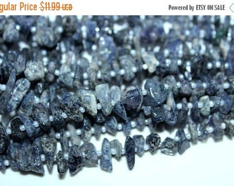 Superb Quality !!!~ 100% Natura lIolite Rough Beads  Nuggets Shape 8x6mm 17x8mm Approx 14''Inch Top Quality