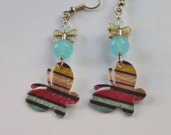 earrings... a high color Butterfly