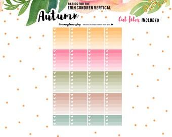 Printable Planner Stickers, Checklist Planner Stickers, Ombre Checklist, To Do Stickers, Autumn Stickers, Functional Stickers