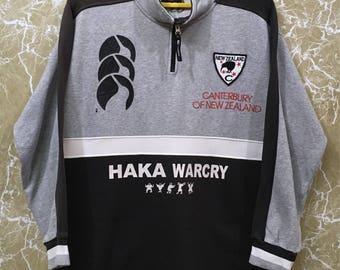 Vintage New Zealand All Black Rugby Jersey Jonah lomu ccc sweatshirt jacket M size