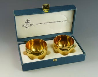 Gold Plated - Mid-Century Modern PIERRE FORSSELL Drinking Cups - SKULTUNA