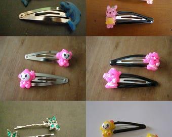 choose set of 2 clips, dolphin, dragonfly, monkey, rabbit