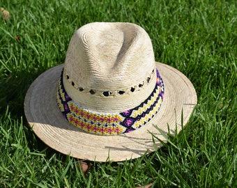 PANAMA HAT, straw fedora,straw beach hat, straw summer hat,mexican hat,handwoven belt,straw hat,festival hat,colorful hat,straw fedora