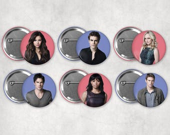 1.25in The Vampire Diaries Buttons