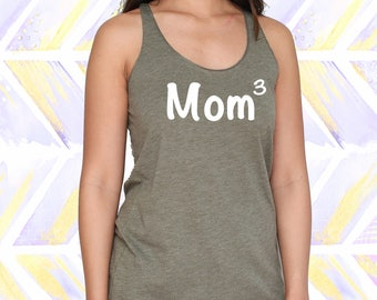 Mom 3 Tank Top - Cute Mother's Day Gift