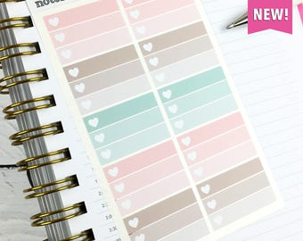 List Box Stickers, Planner Stickers, Foil Planner Stickers, Functional Stickers, Rose Gold Foil, 1 Sheet of 10 stickers