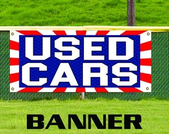 Used Cars Flag Auto Dealer Advertising Banner Vinyl Automotive Business Sign