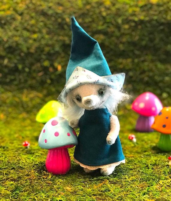Handmade ooak artist troll. Collectible bear, troll, elf, pixie, gnome, mythical creature.