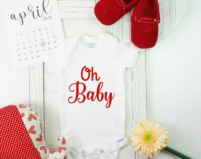 Announcing Pregnancy Onesie / valentine baby announcements/ valentines baby announcements / valentines baby announcement ideas / unique