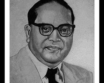 Pencil portrait of Dr. B.R. Ambedkar