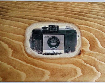 Wood Photo Transfer, Pallet Art, Gift, Pine, wall decor, Photo on wood, Pallet Wall Art, Pineapple Art, Picture Frame, Wood, camera, sunset