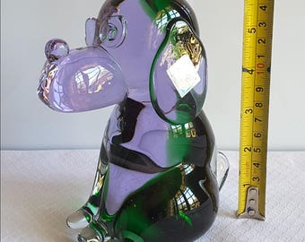 Murano art glass dog