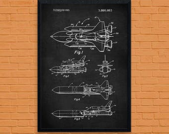 NASA Space Shuttle Poster, NASA Space Shuttle Print, NASA Space Shuttle Patent, Nasa Space Shuttle Blueprint, Nasa Space Shuttle Art