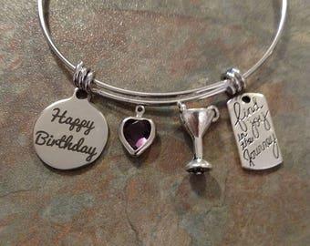 February birthday Bracelet