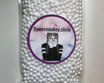 White Foam Beads For Slime