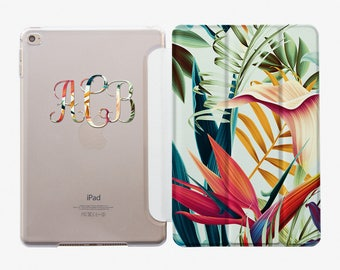 Smart Cover For iPad Pro 9.7 iPad Air Smart Case iPad 4 Smart Cover Custom iPad 5 Case iPad Pro Case 10.5 Monogram iPad Case Flowers AC4004