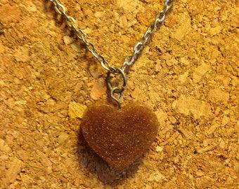 Handmade Heart Charm Necklace - Gold