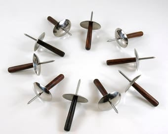 Rosewood and Stainless Steel Danish Modern Hors d'oeuvre Skewer set of ten