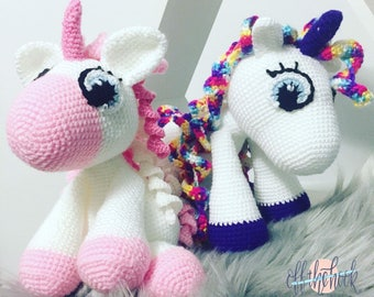 MADE TO ORDER - Sophia the Unicorn - Handmade Crochet