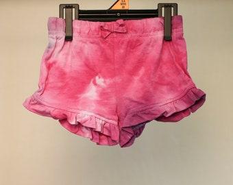 Tie Dyed Girls Shorts - Size 00 - Cotton - Girls - Boho - Beach - Gypsy - Yoga - FREE SHIPPING within AUS