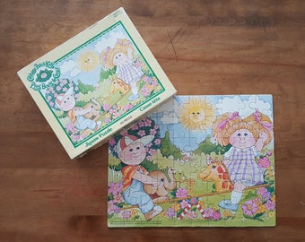 Cabbage Patch Kids Puzzle 60 piece Parker Brothers Vintage 80s Made in Canada Retro Game Night Doll Pastel Colors