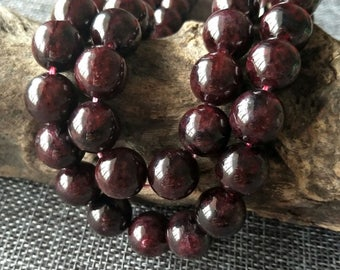 AA Garnet Stone beads Natural Stone Beads,Garnet Bracelet Beads,Natural Gemstone Beads,6mm;8mm;10mm;12mm Natural Beads XY075