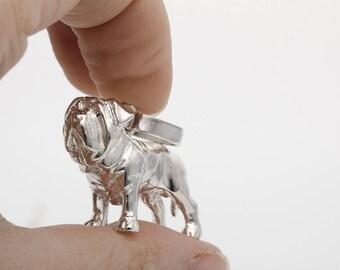 Vakkancs Mastino Napoletano minisculpture pendant (3D solid sterling silver)