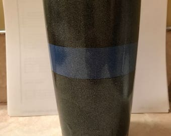 Powdercoated Thin Blue Line Tumbler 20oz
