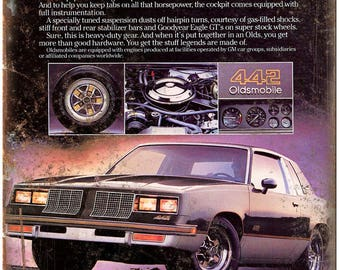 "1985 Oldsmobile Cutlass 442 10"" x 7"" Reproduction Metal Sign"