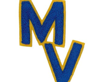 "Patch iron letters ""M, V"""