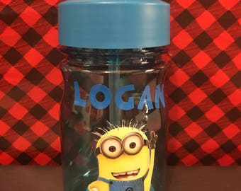 Personalized Minions Water Bottle, Minions Water Bottle, Minions Gift, BPA Free, Minions Party Favors, Minions Party, Kids Birthday Gift