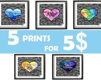 PRINTS BUNDLE, Digital Prints, Valentines Digital Prints, Printable prints, digital download, Love Decor, Digital print, instant download