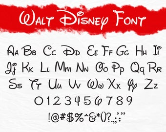 Walt Disney font svg, Walt Disney letters alphabet, Disney font svg, cartoon svg, dxf, cricut, silhouette cutting file, instant download