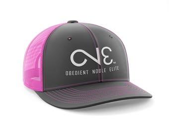 O.N.E. Charcoal Neon Pink Trucker Mesh Back Hat