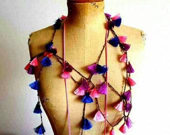 Boho Gypsy hippie style necklace # # # tassels