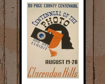 VINTAGE POSTER Centennial of Photography