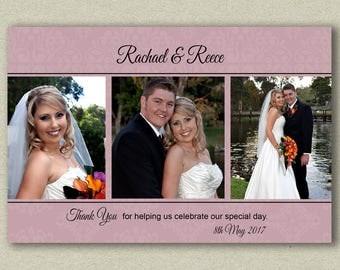 Wedding Thank You Photo Cards, Wedding Thank You cards with photo, Thank You Wedding Cards, Personalised wedding photocards