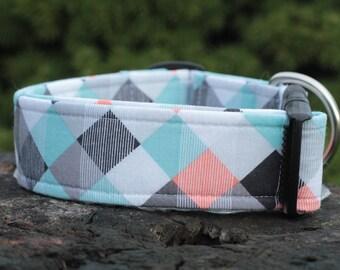 Diamonds and Stripes Dog Collar