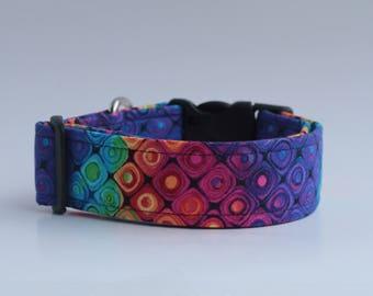 Paint Collection : Diamond Swirls Dog Collar