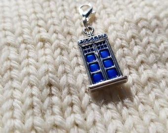 Police Box Progress Keeper Stitch Marker Planner Charm keychain Tardis Doctor Who Time travel Dr Who bullet journal