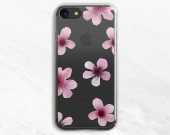 Purple Flowers iPhone 6 Plus Case iPhone 7 Case iPhone 6 Plus Case Clear iPhone 6 Case iPhone 7 Case Clear Clear Phone Case iPhone SE Case