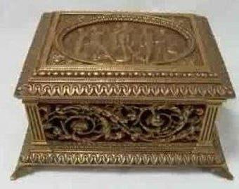 Bronze Filigree Casket Box