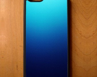 Blue Ombre Dot Print Phone Case Cover Samsung Galaxy S6 S7 S8 Note Edge Apple iPhone 4 5 5S 5C 6 6S 7 SE Plus LG G3 skin snap rubber