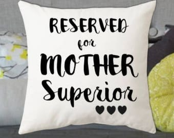 Mother Superior Cushion Pillow Gift Perfect Present For Women Ladies Mum Mummy Grandmother Nan Auntie