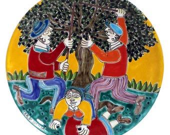 Ornamental Pottery dish of Sicilia