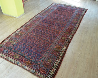 Vintage Persian Carpet. Persian Carpet. Persian Rug. Large Persian Runner  Rug. Vintage