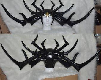 Thor Ragnarok Hela Hat HeaddressCap Helmet Mask for Cosplay