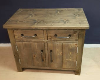 Handmade sideboard from reclaimed materials